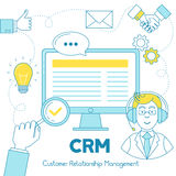 CRM Customer Relationship Service illustration. Royalty Free Stock Photography