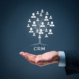 CRM and customers Royalty Free Stock Photo