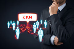 CRM and customers royalty free stock photography