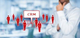 CRM e clienti Fotografie Stock