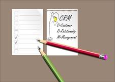 CRM, fondo del customer relationship management per fondo o la presentazione, illustrazione di vettore Fotografie Stock