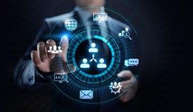 CRM - Gestione di rapporto del cliente Concetto di software di comunicazione e di pianificazione di impresa immagine stock libera da diritti