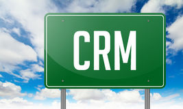 CRM on Green Highway Signpost. Stock Photography