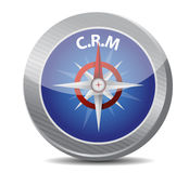Crm guide. compass illustration design Royalty Free Stock Image