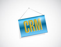 Crm hanging banner sign illustration Royalty Free Stock Photos