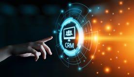 CRM-het Commerciële van het Klantrelatiebeheer Concept van Internet Techology stock afbeelding