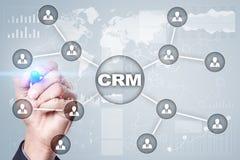 CRM Het concept van het klantrelatiebeheer De klantendienst en verhouding royalty-vrije stock afbeeldingen