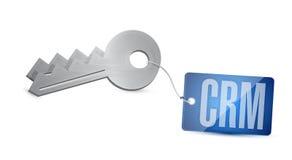 Crm key tag illustration design Stock Photo