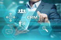 CRM klienta związku zarządzania Techology Biznesowy Internetowy pojęcie obrazy stock