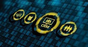 CRM-Kunden-Verhältnis-Management-Geschäft Techology-Konzept stockbild