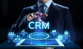CRM - Management de rapport de propriétaire Concept de logiciel de communication et de planification d'entreprise photographie stock