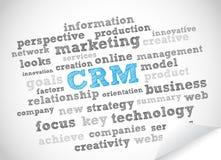 CRM markeringswolk Stock Fotografie