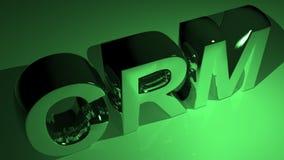 CRM in metallic green Stock Image