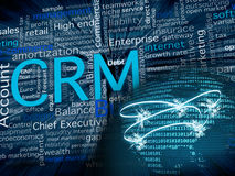 CRM and network royalty free illustration