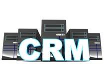Crm o gestión de la relación de cliente ilustración del vector