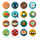 CRM Round Icons Set Royalty Free Stock Photo