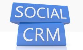 CRM social Imagens de Stock