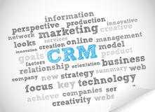 CRM tag cloud royalty free illustration