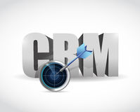 Crm target and solutions concept illustration Stock Images