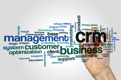 CRM word cloud Royalty Free Stock Images