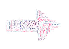 CRM word cloud Stock Photos