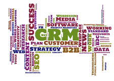 CRM word cloud Stock Photography