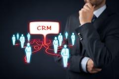 CRM y clientes Fotografía de archivo libre de regalías