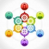 Crm zarządzanie Obrazy Stock