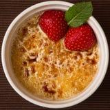 Crème-brulée del ghiaccio da sopra Fotografia Stock Libera da Diritti