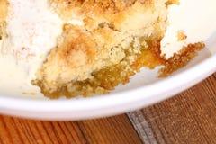 Crème A de croustillant de rhubarbe Photo libre de droits