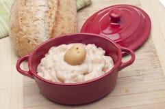 Crème de soupe aux pommes de terre Photos stock