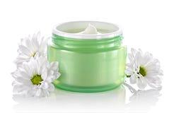 Crème hydratante faciale cosmétique de soin de peau Photographie stock