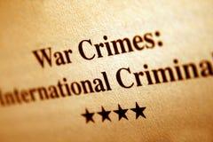 Crímenes de guerra Foto de archivo libre de regalías