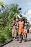 Cérémonie d'Asmat Doroe Photographie stock libre de droits
