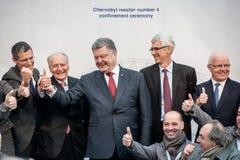 Cérémonie d'emprisonnement du numéro 4 de réacteur de Chernobyl Image libre de droits