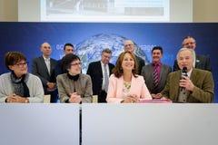 Cérémonie de signatures de contrats Territoires à Energie Positive pour la Croissance et Territoires Zéro Déchet Zéro Gaspil Royalty Free Stock Image