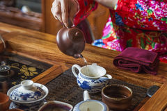 Cérémonie de thé chinoise Photos stock