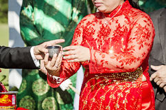 Cérémonie de thé de mariage Photo libre de droits