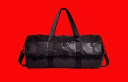 crna putna sportska torba Fotografia Stock