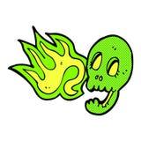 crâne comique drôle de bande dessinée Photographie stock libre de droits