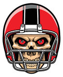 Crâne de joueur de football Image libre de droits