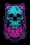 Crâne et cerveau Photographie stock