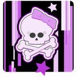 Crâne et os croisés de Girly Images stock