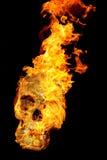 Cráneo ardiente Fotos de archivo libres de regalías