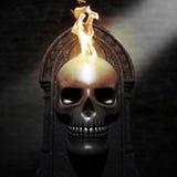 Cráneo ardiente Imágenes de archivo libres de regalías