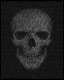 Cráneo compuesto de palabras: muerte, cara Foto de archivo