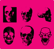 Cráneo del estilo de Emo Imágenes de archivo libres de regalías