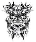 Cráneo del guerrero Fotos de archivo libres de regalías