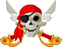 Cráneo del pirata Imágenes de archivo libres de regalías