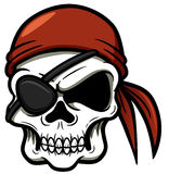 Cráneo del pirata de la historieta Imágenes de archivo libres de regalías